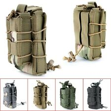 Tactical Military Open Double Rifle and Single Pistol Holster Magazine Bag Pouch