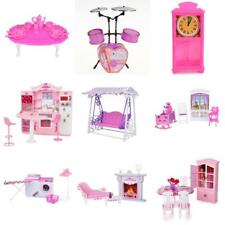 Plastic Doll House Miniatures Playsets Toy For 1/6 Barbie Kelly Doll Accessories