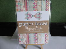 PAPER BOW PAD 128 DIE-CUT PAPER BOWS IN 2 SIZES IDEAL FOR YOUR CARDS