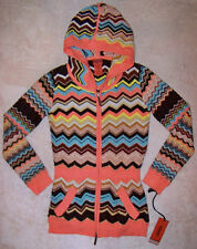 NWT Girl's Missoni for Target Brown Colore Zig Zag Hooded Tunic Sweater