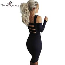 Sexy Cut Out Backless Bandage Bodycon Pencil Sheath Summer Eve Club Party Dress