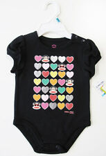 New SMALL PAUL BY PAUL FRANK Infant Girls New Born Julius Cotton One-Piece NWT