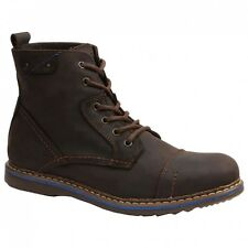 GBX FANE BWH 576734 Mens Dark Brown Casual Lace Up Boots