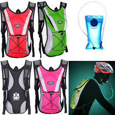Hiking Camping Cycling Backpack+2L Hydration Pack Water Bladder Camelbak Bag Hot
