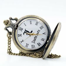 Retro Death Note Anime Movie Bronze/Black Quartz Pocket Watch Necklace Chain Men