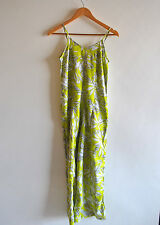 Ladies BNWT Atmosphere Lime Green Floral Strappy Wide Leg Jumpsuit Size 6 UK