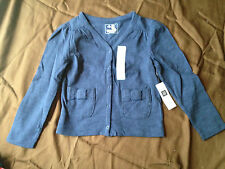 NWT Baby Gap Playtime Favorite Cotton Cardigan Sweater Bow Navy Blue Pink Size 4