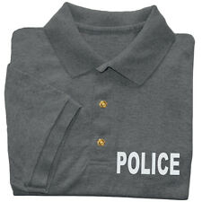 Police golf shirt men's collared button up polo tee dress shirt uniform costume