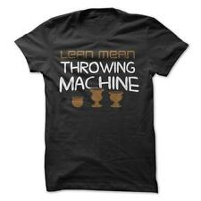 Lean Mean Throwing Machine  - Funny T-Shirt 100% Cotton Pottery Hobby Job Career
