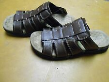 New Men's Brown Dockers ''Fusion Footbed'' Slide Sandals  Retail $65