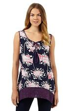 NEW RJR JOHN ROCHA  DEBENHAMS FLORAL JERSEY SUMMER TUNIC TOP  8 - 22