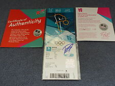 LONDON 2012 AQUATICS CENTRE TICKET-OLYMPIC PARK-SIGNED BY TOM DALEY