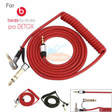 Red Replacement Stereo Audio Cable Cord for Beats by dr Dre PRO DETOX Headphones