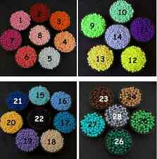 500Pcs 4mm Mixed Color Acrylic Round DIY Jewelry Craft Spacer Loose Beads