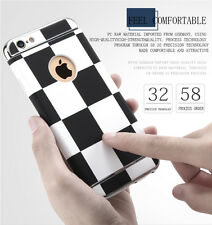 Luxury Hybrid Shockproof Plaid Hard Case Cover for Apple iPhone 5s SE 6 6s Plus