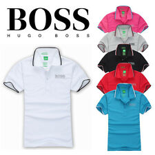 Hugo Boss Hot Men Brand New Green Label Casual Polo T- Shirt Short Sleeved Shirt