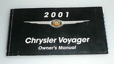 2001 01 Chrysler Voyager Factory Owners Manual ONLY