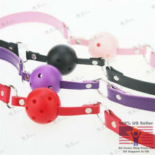 2016 New Game PU Leather Hollow Gagged Mouth Ball Gag Bondage Sex Products Toys