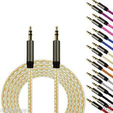 3.5mm Jack Auxiliary 1M Cable Audio Cable Male To Male Flat Aux Cable CHEAP