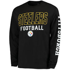 Junk Food Pittsburgh Steelers Black Classic Team Sport Long Sleeve 2 Hit T-Shirt