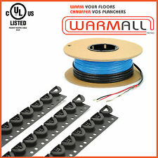 120V 10 to 150 Sq/Ft - Electrical Radiant Warming Floor Heating Cable System