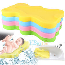 teddy bear sponge bath tub yellow bathing aid baby ebay. Black Bedroom Furniture Sets. Home Design Ideas