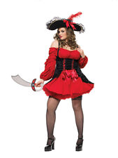 Sexy Black & Red Vixen Pirate Wench Costume