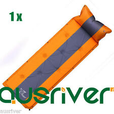 Trackman Self Inflating Single Mattress Camping Hiking Airbed Mat with Pillow