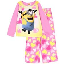 Despicable Me Minions Girls TODDLER 2PC Pajama Set Sz 2T, 3T, 4T Soft Fleece New
