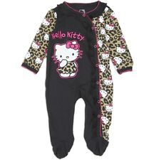 Hello Kitty Baby Girls Infant One-Piece Sz 0-3. 3-6, 6-9 Months Leopard Footed