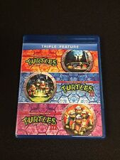 Teenage Mutant Ninja Turtles Triple Feature Blu-ray 2012 3-Disc Set 1990 s TMNT