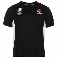 UEFA EURO 2016 Germany Poly T-Shirt Mens Black Football Soccer Top Tee Shirt