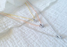 Dainty Silver Initial Letter Charm Necklace Personalized Bridesmaid Birthday