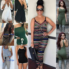 Summer Womens Casual Trousers Playsuit Mini/Long Jumpsuit Bodycon Romper Overall