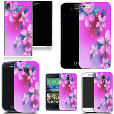 Patterned Case Cover For Various Mobile Phones - Pink Floral Gathering