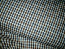 PAUL SMITH BEAUTIFUL 100% PURE COTTON SHIRT FABRIC NAVY BROWN WHTE FINEST  150CM