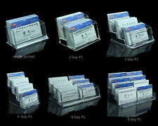 Acrylic Business Card Holders Counter Dispensers Display Stands B1