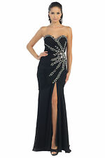 Sexy Long Formal Prom Dress Evening Gown Plus Size