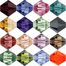 50pcs New Faceted Bicone Crystal Glass Clear Loose Spacer Bead Charm Jewelry 6mm