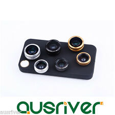 3in1 0.67x Wide Angle+ 10x Macro+180° Fish Eye Lens+ Phone Case for iPhone 4/4S