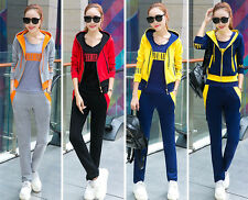 New long-sleeved suit Fitness leisure Hoodie with pants sport three-piece suit