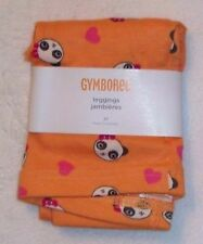 NWT Gymboree PANDA ACADEMY Orange Heart & Panda Face Print Knit Leggings