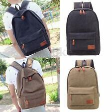 Women Men Canvas Travel Satchel Shoulder Bag Backpack School Rucksack Handbag