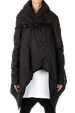 RICK OWENS DUSTULATOR Donna Asymmetric Padded Coat Made in Italy