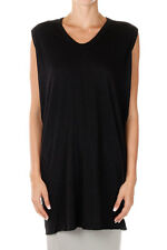 RICK OWENS LILIES New Woman Black Angora Wool Top Tee Tunica Made Italy NWT