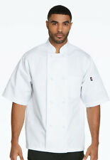 Dickies Unisex Classic Knot-Button Chef Coat  DC48  White FREE SHIPPING