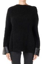 GUCCI Woman Black Boatneck Sweater Made in Italy