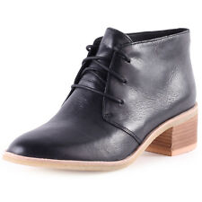 Clarks Originals Phenia Carnaby Womens Ankle Boots Black Leather New Shoes