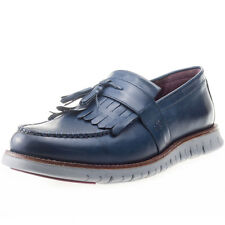 London Brogues Gatz Loafer Mens Shoes Navy Grey New Shoes