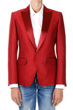 DSQUARED2 Dsquared² New Woman Red Blazer Jacket Wool silk Made Italy NWT